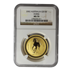 2002 1 oz Gold Year of the Horse Lunar Coin NGC MS70 (Series 1)