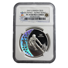 2007 Silver Canadian $25 Olympic Alpine Skiing NGC PF70