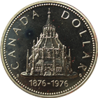 1976 Canadian Silver Dollar - Parliment Library (.375 oz of Silver)
