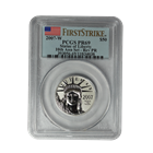 2007-W 10th Anniversary Platinum American Eagle 2 Coin Set PCGS PR69/Rev PR69 First Strike