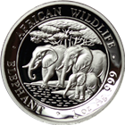 2013 1 oz High Relief Silver Somalian African Elephant (.999 Pure) With Box & COA