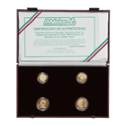 1985-86 Mexico 4-Coin Proof Gold World Cup Set (1.5 oz Of Gold)  - With Box and COA