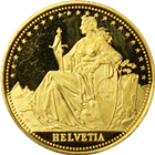 1986 1/4 oz Proof Gold Switzerland Helvetia