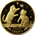 2004 1/2 oz Proof Gold Isle of Man Tonkinese Cat