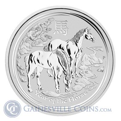 2014 1 Kilo 32.15 oz Silver Australian Lunar Year of the Horse