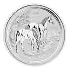 2014 5 oz Silver Australian Lunar Year of the Horse Coin