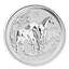 2014 2 oz Silver Australian Lunar Year of the Horse Coin