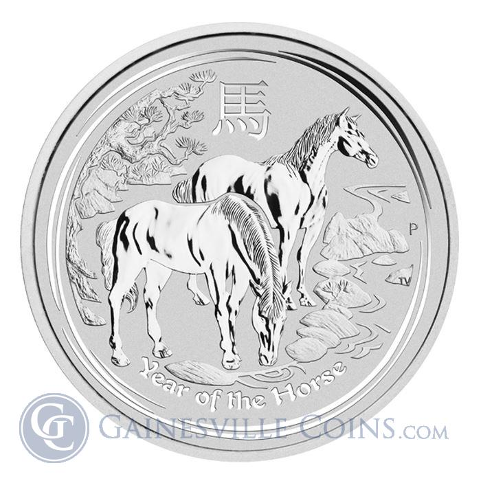 Image Showcase for 2014 1 oz Silver Australian Lunar Year of the Horse Coin