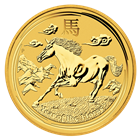 2014 1 Kilo (32.15 oz) Australian Gold Lunar Year of the Horse Coin
