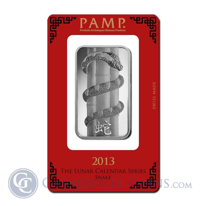 Image Showcase for 1 oz PAMP Suisse Lunar Snake Silver Bar