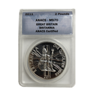2011 1 oz Royal Mint Silver Britannia | ANACS MS70