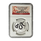 2013 1/2 oz Silver Australian Lunar Year of the Snake NGC MS69 Early Release