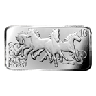 2014 10 oz Horse Design Silver Bar .999 Pure Silver