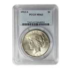 1923-S Silver Peace Dollar PCGS MS63