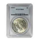 1928-S Silver Peace Dollar PCGS MS63