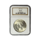 1923 Silver Peace Dollar NGC MS65