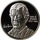 Hale Irwin PGA Hall of Fame 1 oz Silver Art Round (.999 Pure)