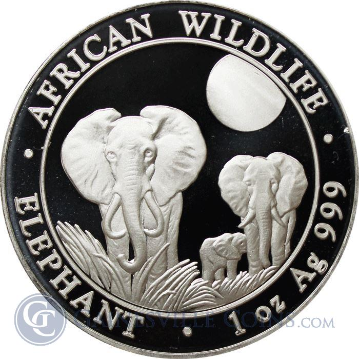 Image Showcase for 2014 1 oz Silver Somalian African Elephant (.999 Pure)