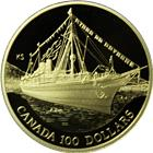 1991 Canada $100 Proof Gold - S.S. Empress of India (.25 oz of Gold) With Box & COA