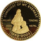 2003 Nepal 5 oz Proof Gold Coin | 50th Anniversary Conquest Of Mount Everest (With Box) Mintage of ONLY 99!