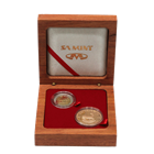 2008 2-Coin Proof Gold South African Oom Paul Set (With Box & COA) - Mintage of ONLY 350 Sets!