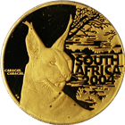 2004 South Africa Natura 1 oz Proof Gold Caracal- C/C Special Edition (With Box & COA)