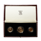 1987 United Kingdom 3-Coin Proof Gold Sovereign Set - (.822 oz of Gold)