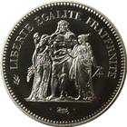 1979 Franc 50 Francs Proof Silver Hercules Piefort (ASW 1.73 oz)