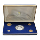 1998 United Kingdom 5-Coin Proof Gold & Silver Britannia Prestige Set (1.85 oz AGW & 5 oz ASW) With Box & COA