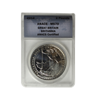 2012 1 oz Royal Mint Silver Britannia | ANACS MS70