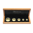 2007 Mexico 5-Coin Proof Gold Libertad Set - With Box & COA (1.9 oz AGW) Mintage of ONLY 500 Sets!