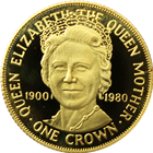 1980 Isle of Man 1 Crown Proof Gold Coin - 80th Birthday of Queen Mother