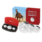 2014 3-Coin Proof Silver Australian Lunar Year of the Horse Set (With Box & COA)