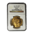 1967 Peru 50 Soles Gold Indian Head NGC MS66