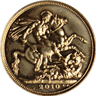 2010 Proof Gold British Sovereign - (.2354 oz of Gold)