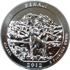 2012 5 oz Silver America The Beautiful - Denali National Park