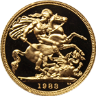 1983 Great Britain 2 Pounds Proof Gold Double Sovereign Coin - (.4711 oz of Gold)