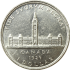 1939 Canada Silver Dollar - .60 oz of Silver