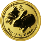 2011 1/20 oz Australian Gold Lunar Year of the Rabbit