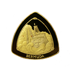 1997 Bermuda $60 Proof Gold Triangular Coin - 1 oz of Gold (With Box and COA)