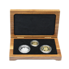 2000 Bermuda Tall Ships 3-Coin Gold & Silver Set - With Box and COA (.51 oz AGW & 1.68 oz ASW)