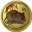 2008 Australia 1 oz Gold Year of the Mouse Lunar Coin - Colorized (Series II)