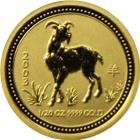 2003 Australia 1/20 oz Gold Goat Lunar Coin (Series  1)