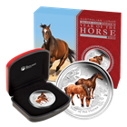 2014 Australia 1 oz Proof Silver Horse - Colorized (With Box & COA)