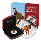 2014 Australia 1/2 oz Proof Silver Horse - Colorized (With Box & COA)
