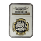 2011 Isle Of Man Bi-Metallic (Proof Platinum & Gold) Angel NGC PF70 - Mintage of ONLY 500!