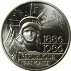1886-1986 France 100 Franc Silver Statue of Liberty (.434 oz of Silver)