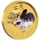 2011 Australian 1/20 oz Gold Rabbit - Colorized (Series II)