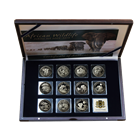 2004-2014 Somalia African Wildlife Elephant 11-Coin Silver Jubilee Set - Mintage of Only 500