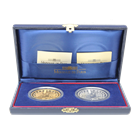 2000 France Proof Gold And Silver 2-Coin Euro Conversion Set (1 oz AGW & .376 oz ASW)
